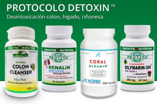 Protocolo Detoxin de 30 días - desintoxicación colon, higado, riñones