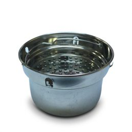Alkalizing flask filter basket