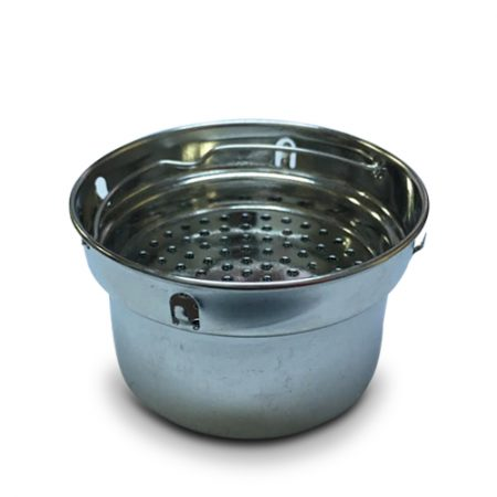 Alkalizing flask filter basket