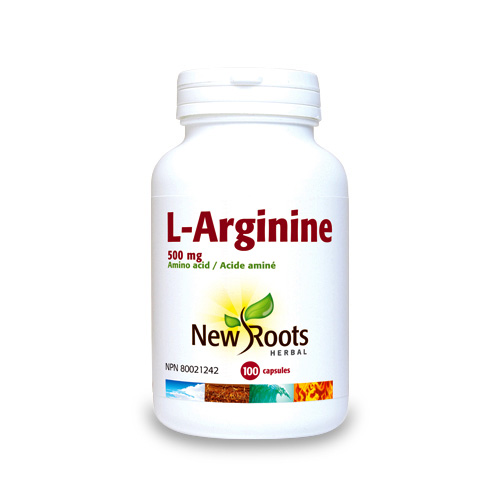 L-Arginine – 500 mg – 100 capsules